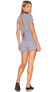 MONROW Knot Back Romper in Granite