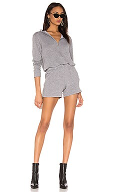 x REVOLVE Supersoft Zip Up Romper MONROW $90 (FINAL SALE)