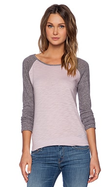 MONROW Heritage Long Sleeve Rock Tee in Lavender