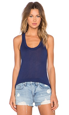MONROW Tissue Narrow Tank in Navy