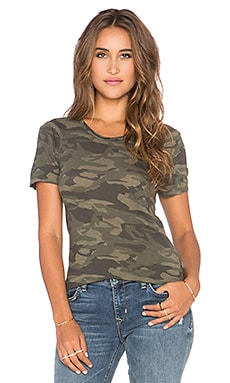 MONROW Camo Mini Tee in Hunter