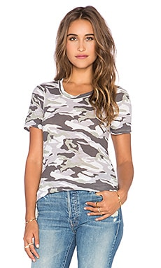 MONROW Camo Mini Tee in White