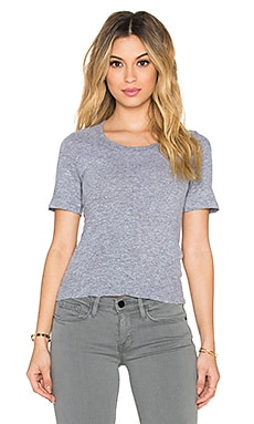 MONROW x REVOLVE Granite Jersey Crop Tee in Granite