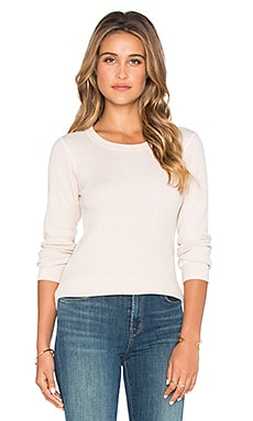 MONROW Varsity Long Sleeve Thermal in Shallot
