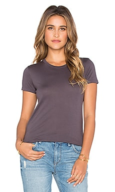 MONROW Skinny Tee in Charcoal