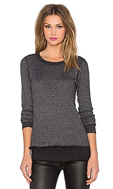 MONROW Double Layer Thermal Top in Black