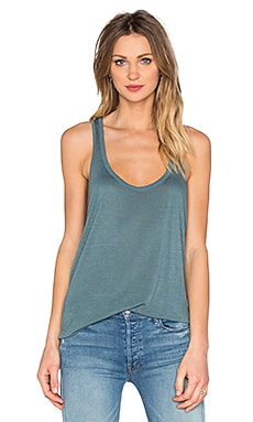 Basic Rayon Tank in Succulent