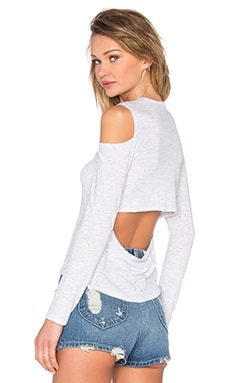 Open Back Cut Out Tee in White