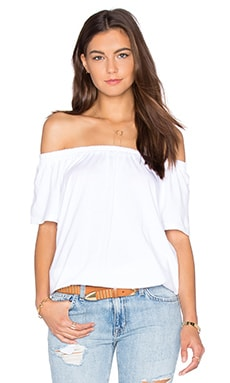 MONROW Boho Tee in White