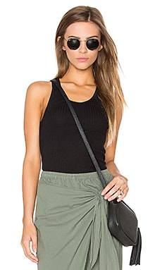 MONROW Scoop Neck Tank in Black