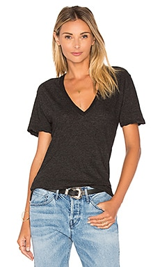 Granite Oversized V Neck Tee in Black