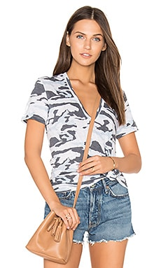 Oversized V Neck Tee in Camo