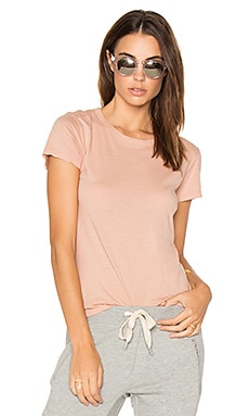 Fitted Crew Tee in Cheeky Pink
