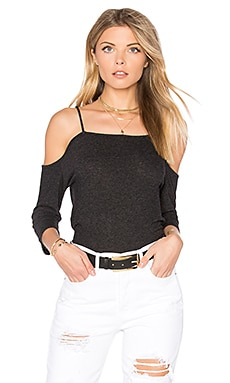Cold Shoulder Top in Black