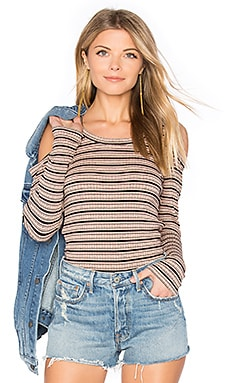 Stripe Cut Out Top