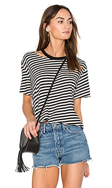 Slash Stripe Athletic Tee in Natural