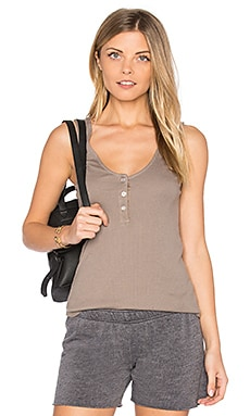 Baseball Hem Rib Tank in Ash Green