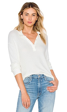Mock Neck Henley Top MONROW $86