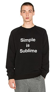 Harmony Simple Sweatshirt in Black