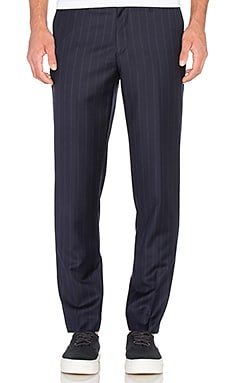 Harmony Peter Trouser in Navy Pinstripe