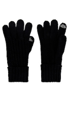 Cable Knit Touch Screen Glove Hat Attack $55 NEW
