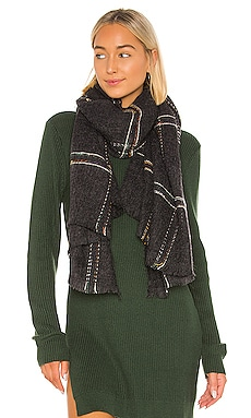 Windowpane Blanket Scarf Hat Attack $40