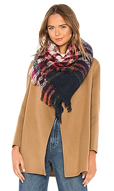 Bright Plaid Scarf Hat Attack $26 (FINAL SALE)