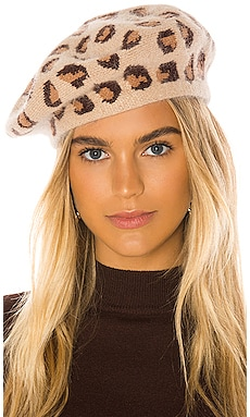 Leopard Beret Hat Attack $46 NEW ARRIVAL
