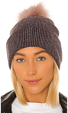 Sparkle Fur Pom Beanie Hat Attack $78