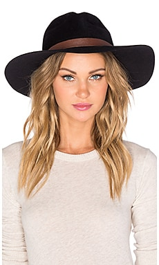 Hat Attack XL Luxe Hat in Black & Brown Leather Fringe