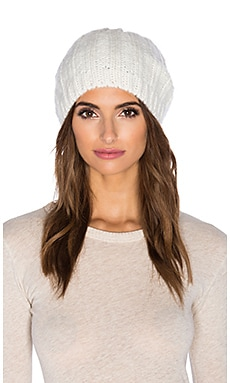 Hat Attack Rib Slouchy Beanie in Ivory