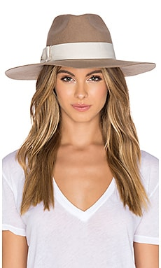 Hat Attack XL Glam Hat in Taupe & Ivory Bow