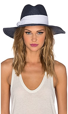 Refined Style Harbor Hat en Navy & White Band