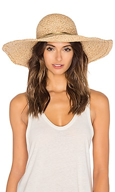 Hat Attack Metallic Raffia Braid Sunhat in Natural & Gold