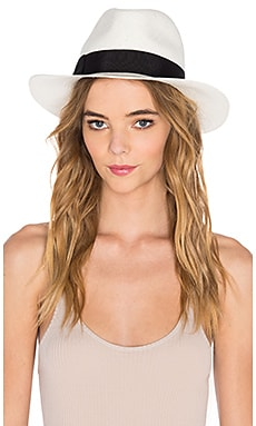 Hat Attack The Original Panama Hat in Bleach & Black Classic Bow