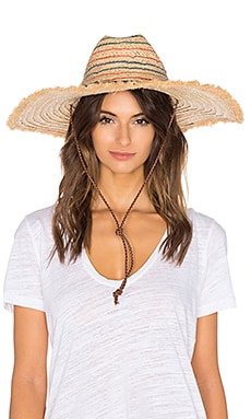 Beach Hat in Stripe Fringe Multi
