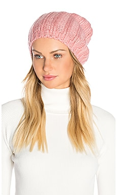 Rib Slouchy Beret in Rose