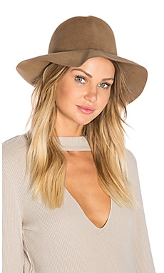 Crushable Luxe Felt Hat in Taupe