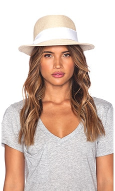 Fine Braid Fedora in White Twill