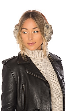 Leather and Rabbit Earmuff