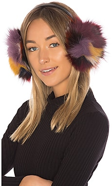 Luxe Earmuff With Fox Fur Hat Attack $31 (FINAL SALE)