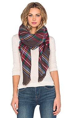 Hat Attack Plaid Blanket Scarf in Multi