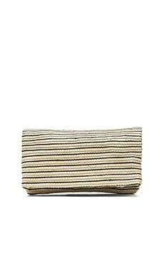 Hat Attack Foldover Clutch in Black Stripe