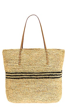 Luxe Stripe Tote Hat Attack $148 Sustainable