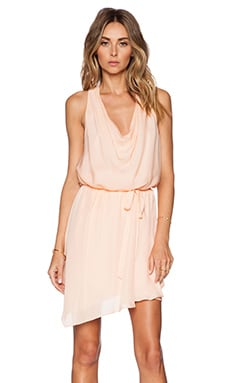 Haute Hippie Cowl Wrap Dress in Cream Puff