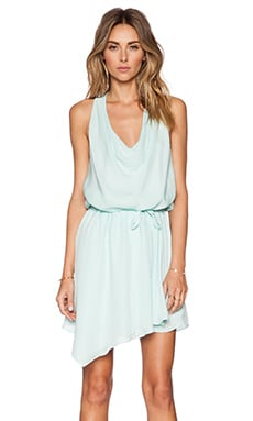 Haute Hippie Cowl Wrap Dress in Skylight