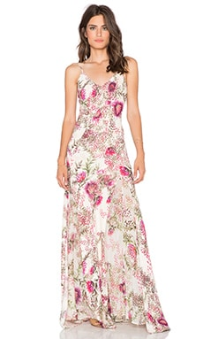 Haute Hippie Godet Slit Gown in Wildflower