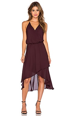 Haute Hippie Halter Wrap Dress in Fig