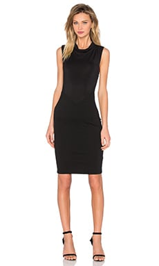 Po Ponte Modal Dress in Black