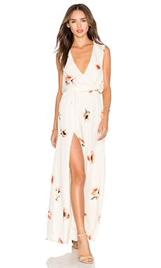 Haute Hippie Sexy Wrap Front Dress in Hounds Of Love